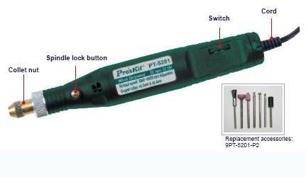 mini grinder joyeros, mecánica dental, electrónica, etc.