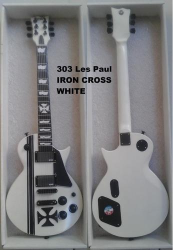 mini guitarra electrica metallica esp les paul escala 1:2.5