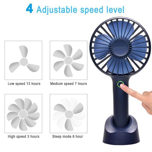 mini handheld ventilador, seoyo personal portátil usb recar