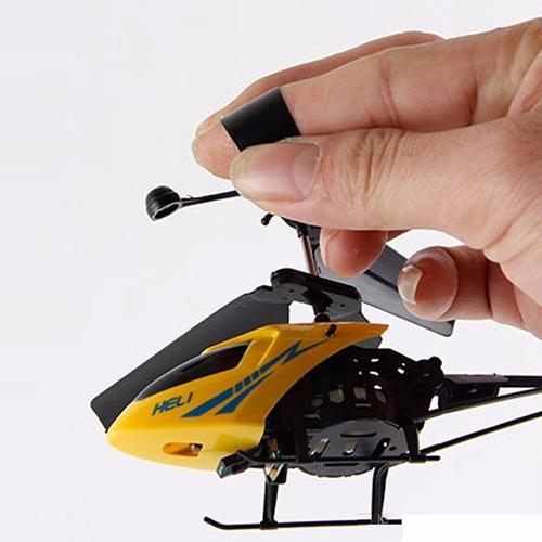 mini helicoptero metalico a control remoto, reforzado 3d