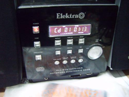 mini hi fi   grabador  elektra  cd mp3 usb sd  control rem