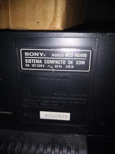 mini hi-ficomponent system sony genezi mhc-rg490s