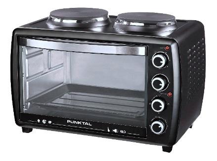mini horno eléctrico punktal 38l 38 l 2 discos eléctricos