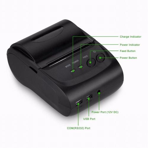 mini impresora termica portátil bluetooth 58mm con funda