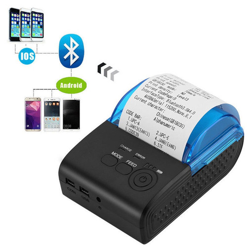 mini impresora termica portatil usb bluetooth 58mm