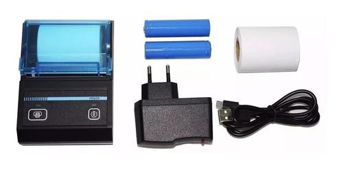 mini impressora térmica portátil bluetooth android ios 48mm