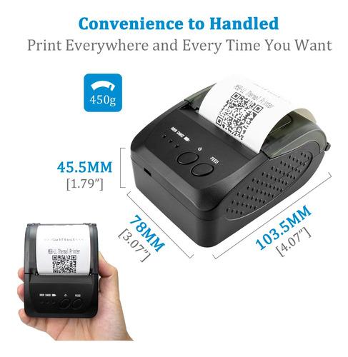 mini impressora térmica portátil celular bluetooth 58m e57