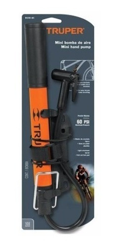 mini inflador portatil para bicicletas, pelotas, moto truper