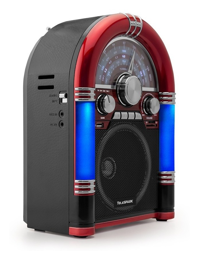 Mini Jukebox Rádio Retrô, Am/fm Usb Micro Sd E Bluetooth