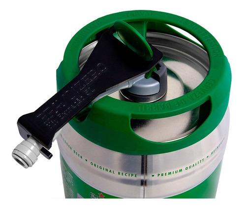mini kit de extração p/ barril 5l heineken c/ conector 3/8