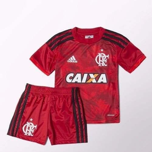 0981370006 Mini Kit Infantil adidas Flamengo 3 Vermelho 100% Original - R$ 89 ...