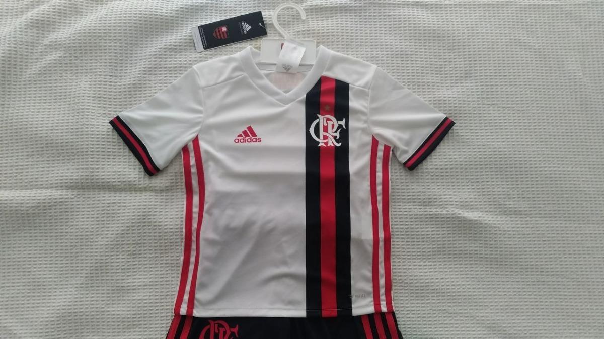 3580b36044 Mini Kit Infantil Original Flamengo adidas Branco 2017 2018 - R  160 ...