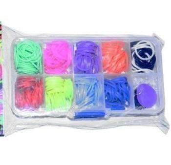 mini kit loom bands para pulseiras de elastico da amizade