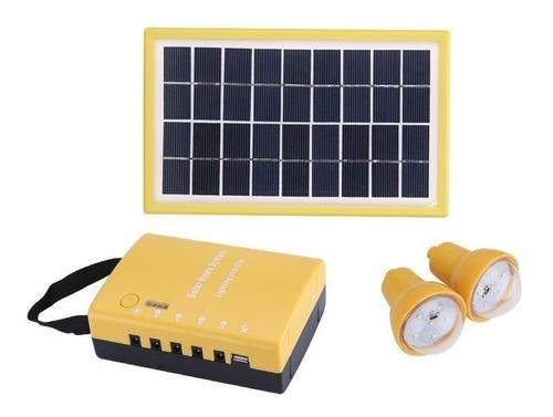 mini kit panel solar c/radio+bluetooth+usbcharger+focos
