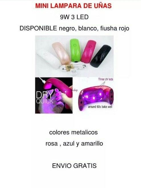 Mini Lámpara De Uñas 9w Led. - $ 279.00 en Mercado Libre