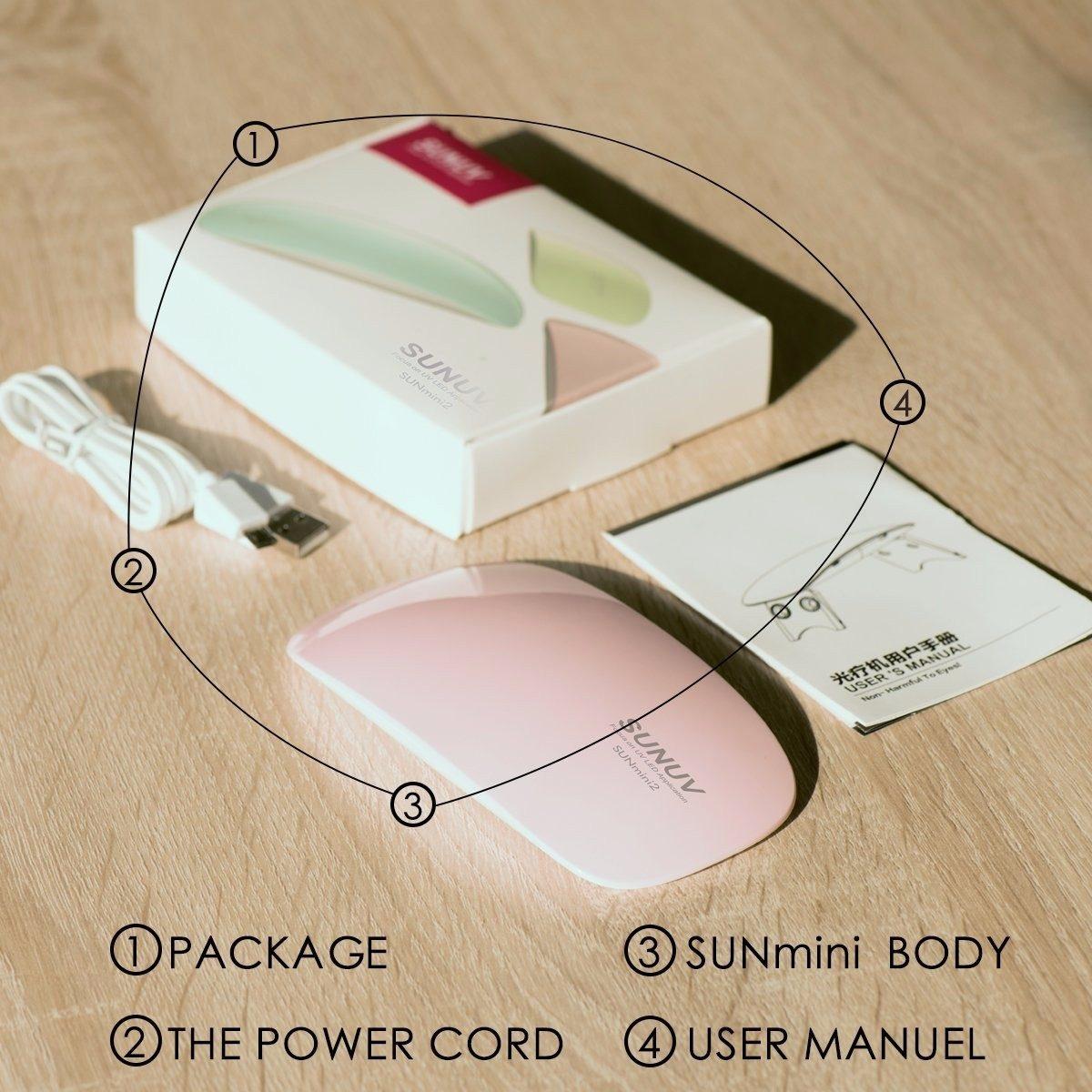 Mini Lámpara Secador Para Uñas Gel Uv 6w Portabl Hogar Salón ...