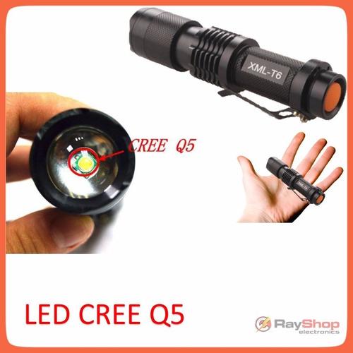 mini lámpara táctica 1000 lm  led cree q5, cono dt60y
