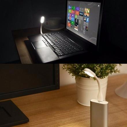 mini lampara usb luz led flexible computador pc powerbank
