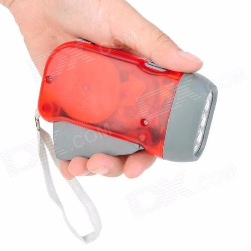 mini lanterna de dinamo não usa pilhas com 3 leds