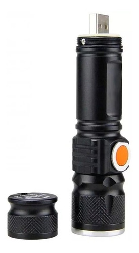 mini lanterna led t6 recarregável por usb gb812 bing