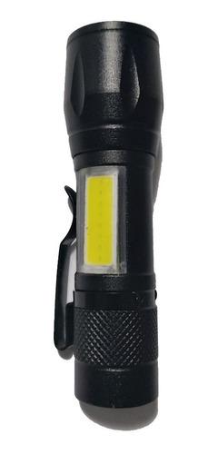 mini lanterna tática led usb recarregável c/ clipe