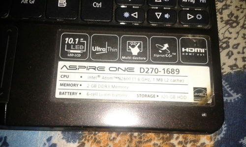 mini laptop acer aspire one d270-1689