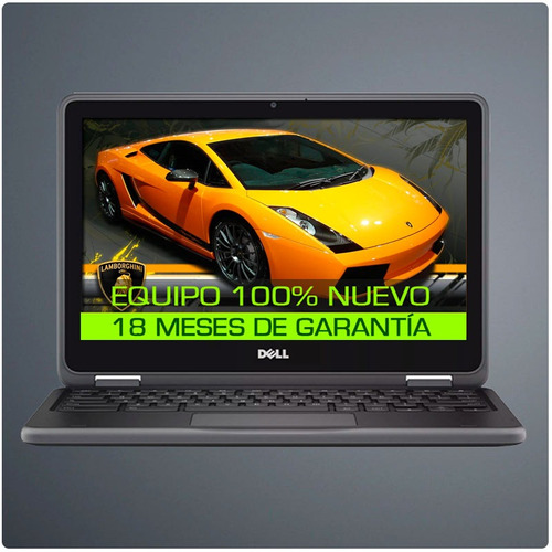 mini laptop dell turbo+ 4gb+ disco solido+ pant. 11+ t video