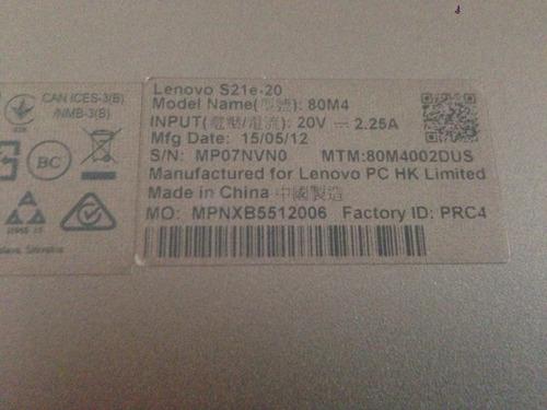 mini laptop lenovo s21e-20 11.6 32gbs 2.16ghz 2gbs excelente