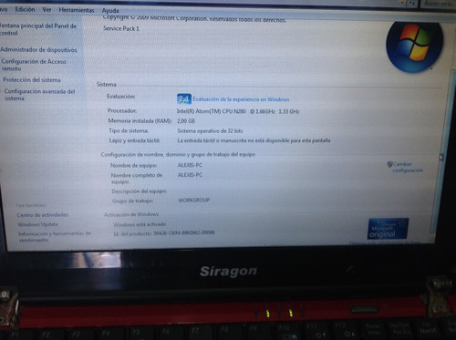 mini laptop siragon ml1030