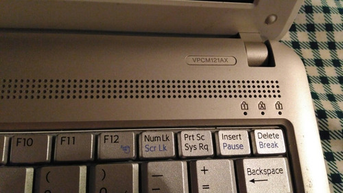 mini laptop sony vaio para repuesto
