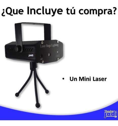 mini laser dj discoteca multipuntos rojo y verde tienda 16ve