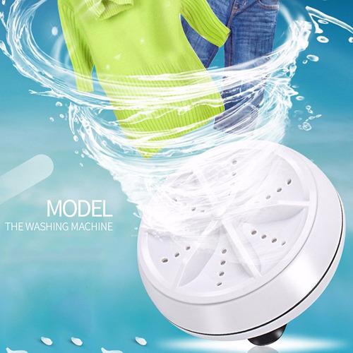 mini lavadora portátil lavandería ultrasónico blanco