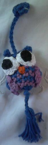 mini lechuzas tejidas al croché para decorar en hilo de algo