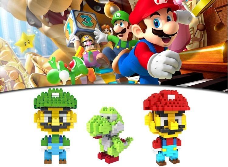 Mini Lego Blocos De Montar Super Mario Luigi Yoshi Nintendo R 34