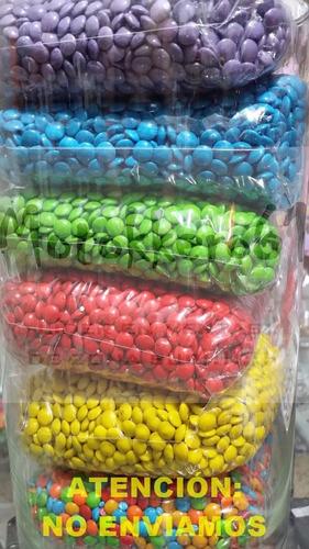 mini lentejas de chocolate por color x 500g
