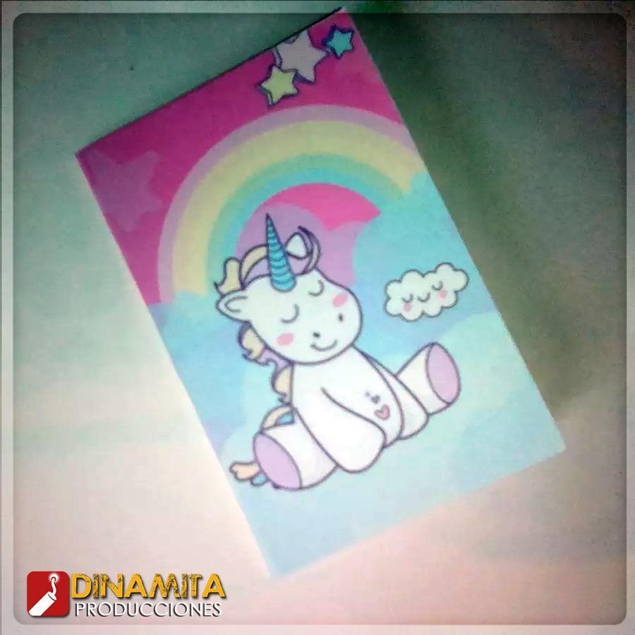 Mini Libro Colorear Cotillon Personalizado Unicornio Fiesta - Bs. 4 ...