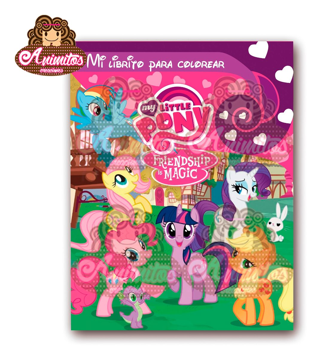 Mini Libros Para Colorear De My Little Pony Para Cotillon - Bs ...