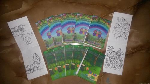 mini libros para colorear, ideales para cotillones
