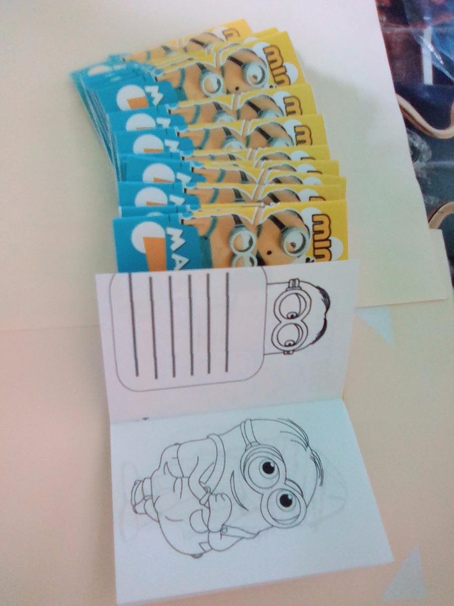 Mini Libros Para Colorear Para Invitación O Cotillón Minions - Bs ...