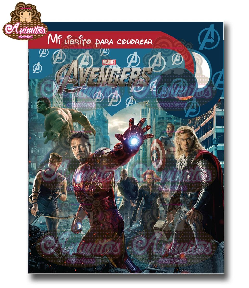 Mini Libros Para Colorear Vengadores Marvel Iron Man America - Bs ...
