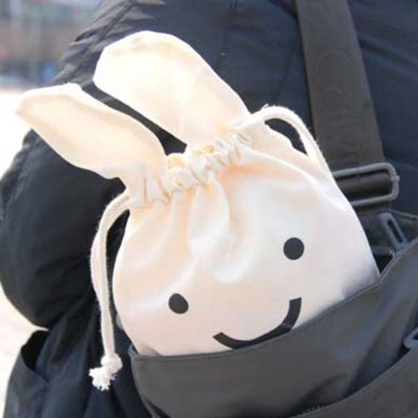 Mini 34 Caso Lindo Conejo Almacenamiento X Ninja Bolsa n0OPX8wk