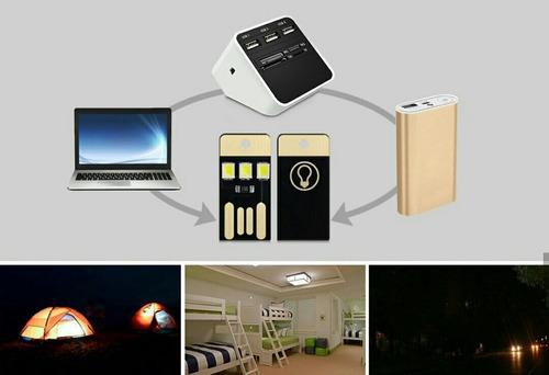 mini linterna lámpara led usb para laptop powerbank pack 5pz