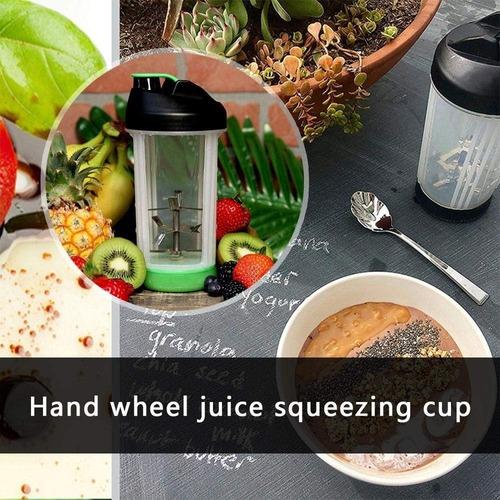 mini liquidificador portatil manual mixer shake coqueteleira