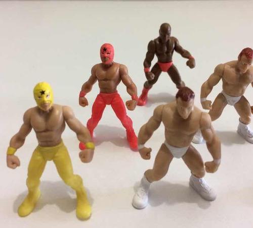 mini luchadores jakks 2010, 5cm articulados