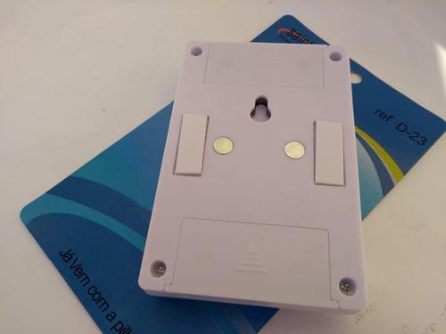 8b9adf3f233 Mini Luminária Portátil Led Regulável 3w Sem Fio À Pilha Imã - R  24 ...