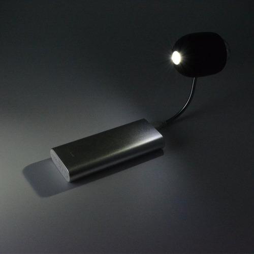 mini luminaria usb luz branca + bola maluca giratoria festa