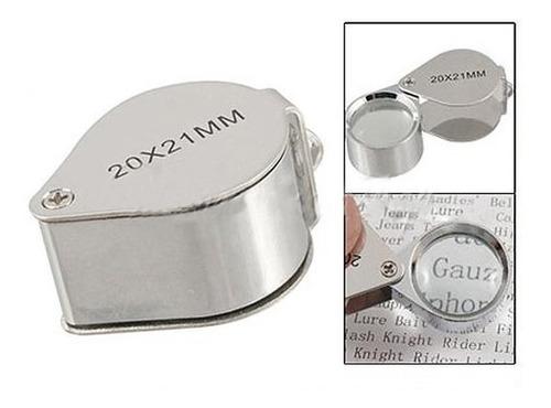 mini lupa 20x21mm inox relojoeiro joalheiro gota de mão luxo