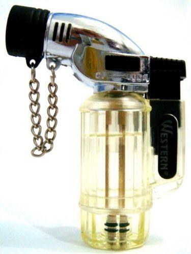 mini maçarico isqueiro a gás recarregável chama regulável nf