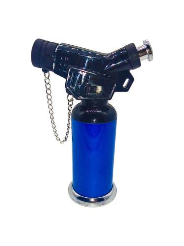 mini maçarico isqueiro fluido recarregavel chama regulavel
