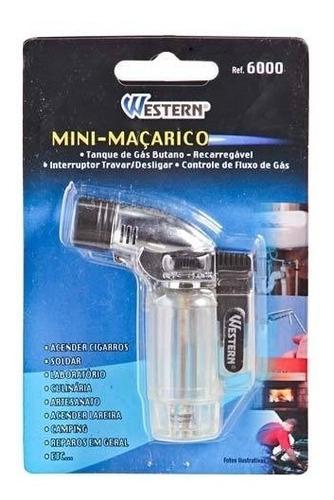 mini macarico recarregavel com interruptor e controle deflux